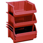 "LEWISBins Fiberglass Hopper Bin SH2416-8 Stack And Nest 24""L x 16-1/2""W x 8""H Red - Pkg Qty 5"