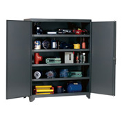 Heavy Duty Storage Cabinet with Reinforced Shelves 60x24x76-3/4