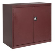 Sandusky Elite Series Counter Height Storage Cabinet EA2R462442 - 46x24x42, Burgundy