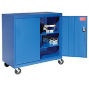 Sandusky Mobile Work Height Storage Cabinet TA2R462442 Double Door - 46x24x48, Blue