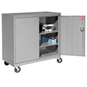 Sandusky Mobile Work Height Storage Cabinet TA2R462442 Double Door - 46x24x48, Gray