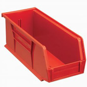Quantum Plastic Stacking Bin QUS224 4-1/8 x 10-7/8 x 4 Red - Pkg Qty 12
