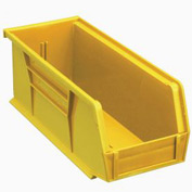Quantum Plastic Stacking Bin QUS224 4-1/8 x 10-7/8 x 4 Yellow - Pkg Qty 12