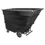 Bayhead Products Black Heavy Duty 1.7 Cubic Yard Tilt Truck 2200 Lb. Capacity