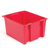 Stacking & Nesting Totes - Shipping SNT230 No Lid 23-1/2 x 19-1/2 x 13, Red - Pkg Qty 3