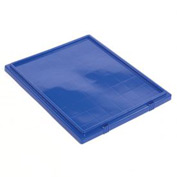 Lid LID301 for Plastic Shipping Containers - Stackable & Nesting SNT300, Blue - Pkg Qty 3