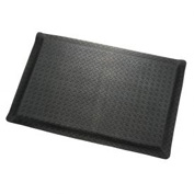 "Diamond Plate Ergonomic Mat 9/16"" Thick 36""X60"" Black"
