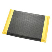 "Diamond Plate Ergonomic Mat 9/16""Thick 24""Wide Black/Yellow Border Up To 75ft"
