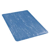 Marbleized Top 36 Inch Wide Mat Blue