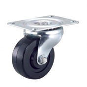 "Light Duty Swivel Plate Caster 4"" Rubber Wheel 240 Lb. Capacity"