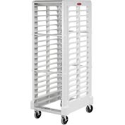 Rubbermaid 3320 End-Load White Plastic Tray Truck
