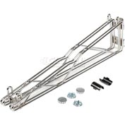 "Adjustable Double Shelf Support 24"" Deep"