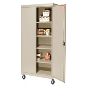 Sandusky Mobile Storage Cabinet TA4R302466 - 30x24x72, Putty