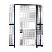 Husky Rack & Wire EZ Wire Mesh Partition Sliding Door - 5'Wx8'H