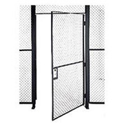 Husky Rack & Wire EZ Wire Mesh Partition Hinged Door - 4'Wx10'H