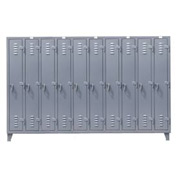 Strong Hold® Heavy Duty Slim-Line Locker 106-18-1TSL - Single Tier 122x18x78 10 Door
