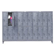 Strong Hold® Heavy Duty Slim-Line Locker 106-18-2TSL - Double Tier 122x18x78 20 Door