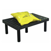 "Plastic Dunnage Rack with Vented Top 36""W x 24""D x 12""H"