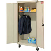 Sandusky Mobile Wardrobe Cabinet TAWR362472 - 36x24x78, Putty