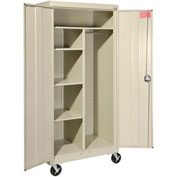 Sandusky Mobile Combination Cabinet TACR362472 - 36x24x78, Putty