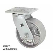 "Faultless Swivel Plate Caster 1406-8RB 8"" Steel Wheel with Brake"