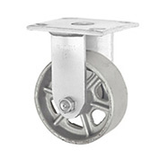 "Faultless Rigid Plate Caster 3406-8 8"" Steel Wheel"