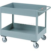 "Jamco Gray All Welded 6"" Deep Shelf Cart LS130 2400 Lb. Capacity 30x18"