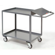 Jamco Two Shelf Order Picking Cart SO248 48x24 Tray Top Shelf