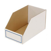 "Foldable Corrugated Shelf Bin 9-3/4""W x 17-1/2""D x 10""H, White - Pkg Qty 27"