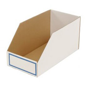"Foldable Corrugated Shelf Bin 11-3/4""W x 23-1/2""D x 12""H, White - Pkg Qty 27"