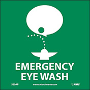 Graphic Facility Signs - Emergency Eye Wash - Vinyl 4x4