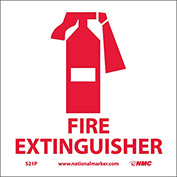 Graphic Facility Signs - Fire Extinguisher - Vinyl 7x7