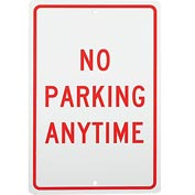 Aluminum Sign - No Parking Anytime - .063mm Thick
