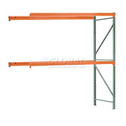 "Interlake Mecalux Pallet Rack Tear Drop Add-On 120""W x 48""D x 96""H"