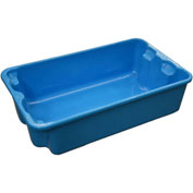 "Molded Fiberglass Nest and Stack Tote 780208 - 17-7/8"" x10""-5/8"" x 5""  Blue - Pkg Qty 12"