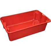 "Molded Fiberglass Nest and Stack Tote 780208 - 17-7/8"" x10""-5/8"" x 5"" Red - Pkg Qty 12"