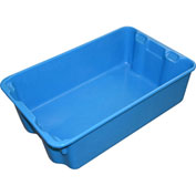"Molded Fiberglass Nest and Stack Tote 780308 - 19-3/4"" x 12-1/2"" x 6"", Pkg Qty 10, Blue - Pkg Qty 10"