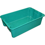 "Molded Fiberglass Nest and Stack Tote 780308 - 19-3/4"" x 12-1/2"" x 6"", Pkg Qty 10, Green - Pkg Qty 10"