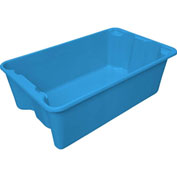 "Molded Fiberglass Nest and Stack Tote 780508 - 24-1/4"" x 14-3/4"" x 8"" Blue - Pkg Qty 10"