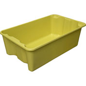 "Molded Fiberglass Nest and Stack Tote 780508 - 24-1/4"" x 14-3/4"" x 8"", Yellow - Pkg Qty 10"