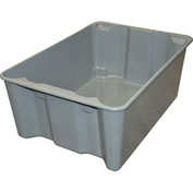 "Molded Fiberglass Toteline Nest and Stack Tote 780608 - 25-1/4"" x 18"" x10"", Pkg Qty 5, Gray - Pkg Qty 5"