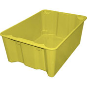 "Molded Fiberglass Nest and Stack Tote 780608 - 25-1/4"" x 18"" x10"", Pkg Qty 5, Yellow - Pkg Qty 5"