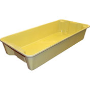 "Molded Fiberglass Nest and Stack Tote 780108 with Wire - 42-1/2"" x 20"" x  7-1/2"", Pkg Qty 5, Yellow - Pkg Qty 5"