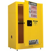 Justrite Flammable Liquid Cabinet Manual Single Door Vertical Storage