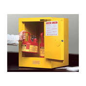 Justrite Flammable Liquid Cabinet Self-Close Single Door Vertical Storage