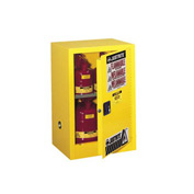 Flammable Liquid Cabinet Self-Close Single Door Vertical Storage