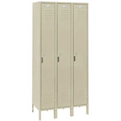 Penco 6113V-3-073-SU Vanguard Locker Pull Latch Single Tier 12x15x60 3 Doors Assembled Champagne