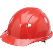 ERB™ 19764 Americana Hard Hat, 4-Point Pinlock Suspension, Red