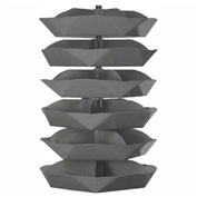 "Durham 44"" Diameter Rotabin® Revolving Parts Storage Shelving Center 1506-95 - 6  Shelves"