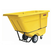 Rubbermaid® 1305 Standard Duty 1/2 Cu. Yd. Yellow Tilt Truck